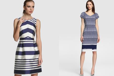 vestido azul y blanco para comunión