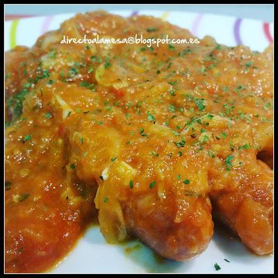 Salchichas frescas con salsa de tomate paperblog - Salchichas frescas en salsa ...