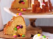 Bundt cake vainilla nata skittles