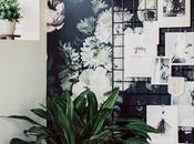 Papel pintado floral oficina genial idea low-cost