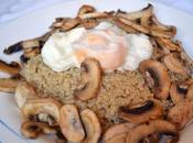 Quinoa huevo champiñones