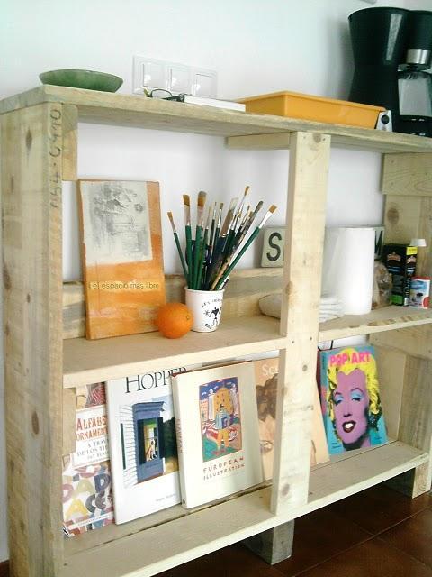 La estanter as y las mesas de apoyo de palets de laura - Estanterias de palets ...