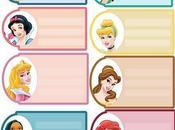 Etiquetas para regalos princesas Disney