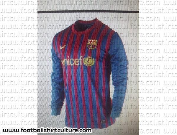 Camiseta de local del Barcelona; temporada 2011-2012 (?)