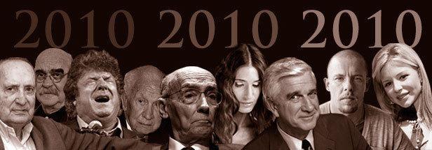 Personalidades de la cultura fallecidos en 2010. In Memoriam.