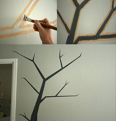 Cómo Pintar un árbol en la pared