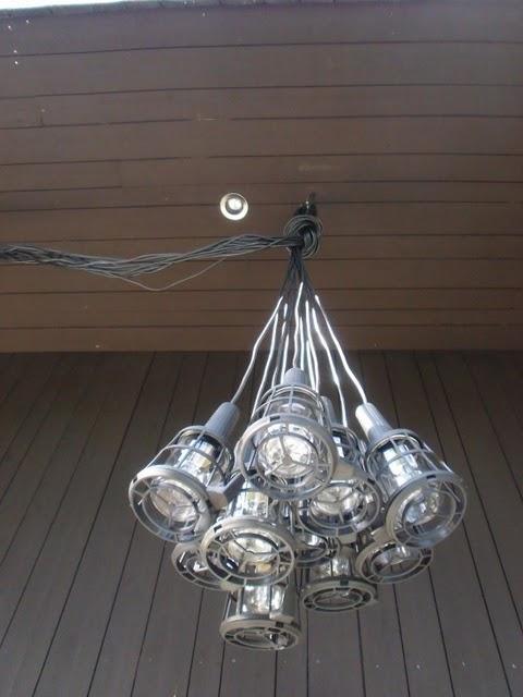 diy lmpara de techo con lmparas porttiles de taller