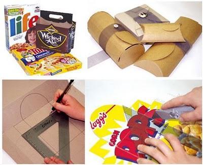 reciclar cajas para envolver regalos sin gastar dinero