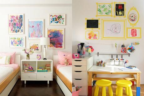 ideas para decorar las paredes de un dormitorio infantil
