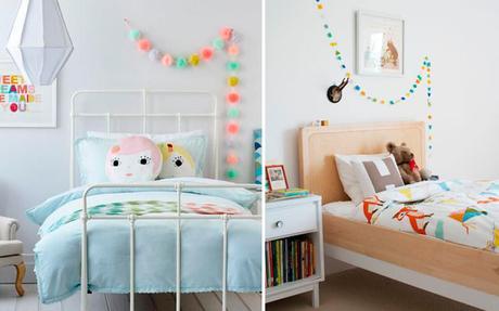 Ideas para decorar las paredes de un dormitorio infantil - Ideas para pintar paredes de dormitorios ...