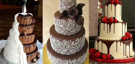 7 Ideas Para La Decoracin De Pasteles De Chocolate Para Una Boda
