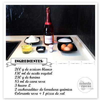 TARTA DE CAVA ROSA CON FRUTOS ROJOS / ROSÉ CHAMPAGNE NUDE CAKE WITH RED BERRIES