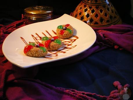 Jeljlaniya {Pastelitos de crema de avellana y sésamo}