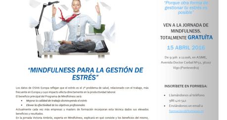 Jornada gratuita: Mindfulness para gestión de estrés