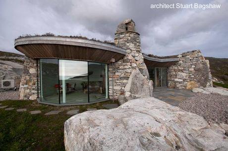 Construcción con rocas.