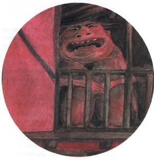 Una representación del Tragaldabas , obra de Jesús Gaban