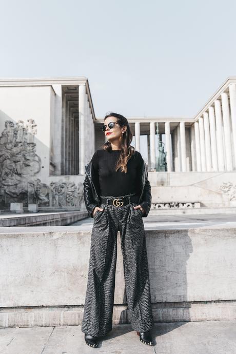 Black_Body-Leather_Jacket-Celine_boots-Gucci_Belt-Wide_Leg_Trousers-Street_Style-9