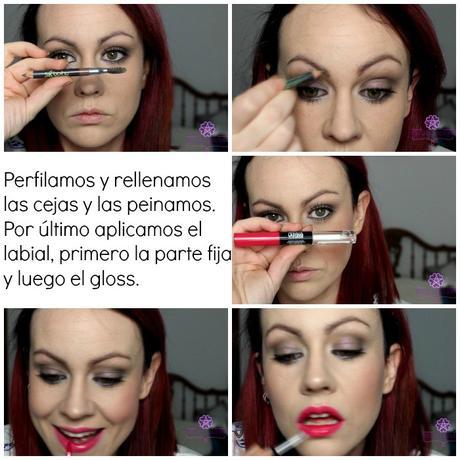 Maquillaje en tonos lilas