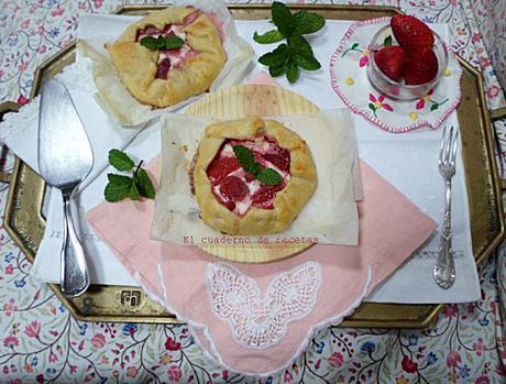 Mini Galettes de Fresas & Queso