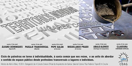 Ciclo de conferencias «Territorios individuales. Lugares comunes»