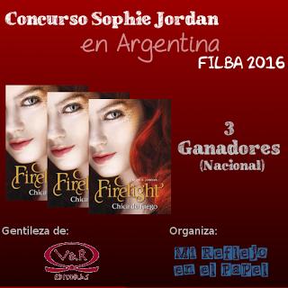 Ganadores del Concurso Sophie Jordan en Argentina -RE-SORTEO-