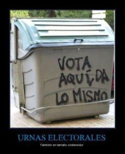 Nunca más votar en España