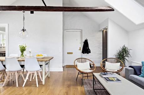 pisos suecos diáfanos pequeño ático estilo rustico country estilo nórdico decoración interiores decoración áticos casa en el campo blog decoración nórdica aticos convertidos en casas