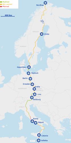 EuroVelo, una red de ciclovías que conectará 43 países