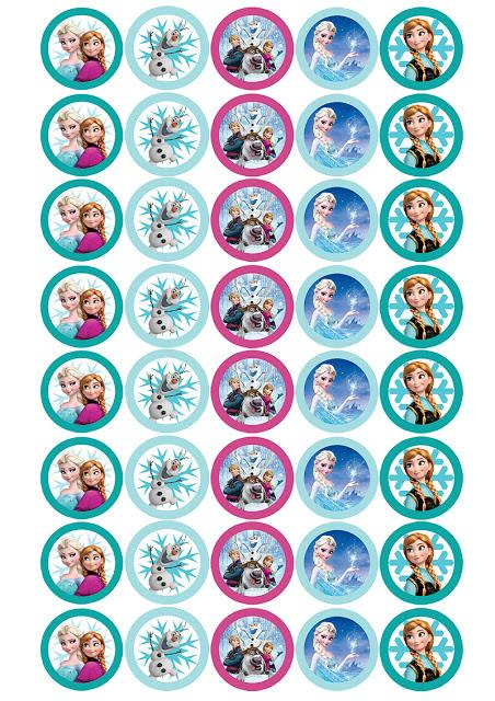 Imprimibles Candy bar de cumpleaños Frozen
