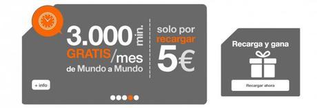 Para nuevos usuarios del servicio de prepago de Orange (sólo en algunas tarifas) se duplicará su saldo en la primer recarga