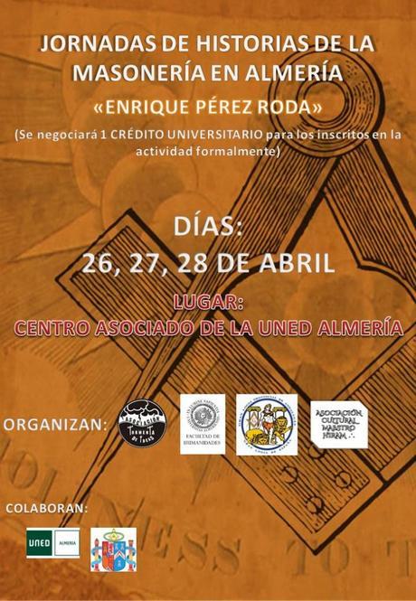 Regresan las Jornadas de Historia de la Masonería a Almería