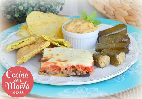Moussaka griega, musaka, productos griegos lidl, cocina con marta, fácil, rápido