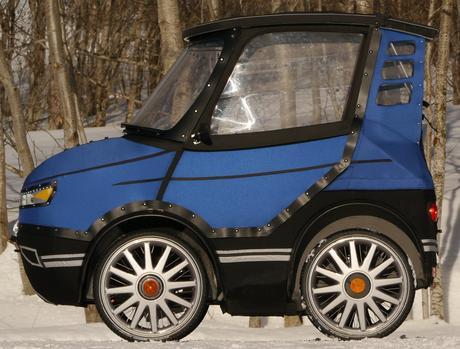 La bicicleta-coche PodRide, un práctico vehículo para desplazarse por la ciudad y nieve