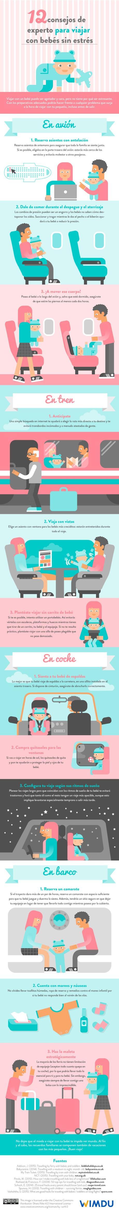 12 consejos de experto para viajar con bebés sin estrés
