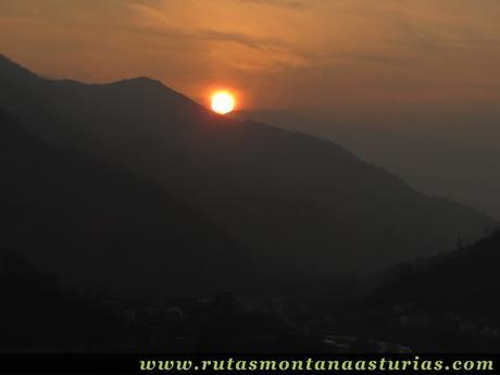 Puesta de sol en Serrapio, Cabañaquinta