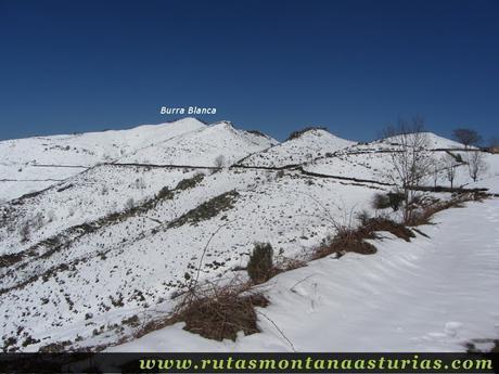 Vista de la Burra Blanca nevada, Aller