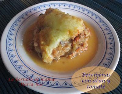 Una receta, dos versiones: Berenjenas con atún y tomate