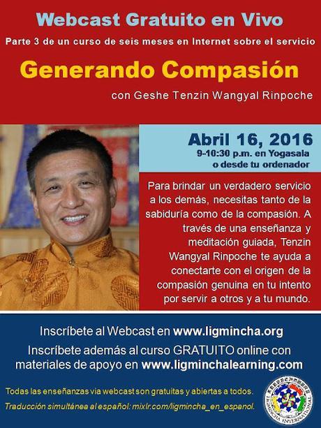 Generando Compasión, 16 de Abril en Yogasala