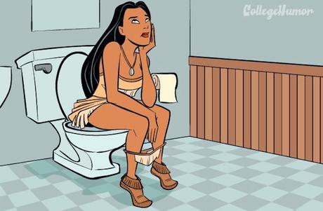 Ilustraciones: Así se verían las princesas Disney si fueran al baño - Imagen 4