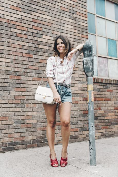 Goodnight_Macaroon-Levis_VIntage-Checked_Blouse-Pink_Shirt-Red_Heels-Marni_Sandals-Dallas-10