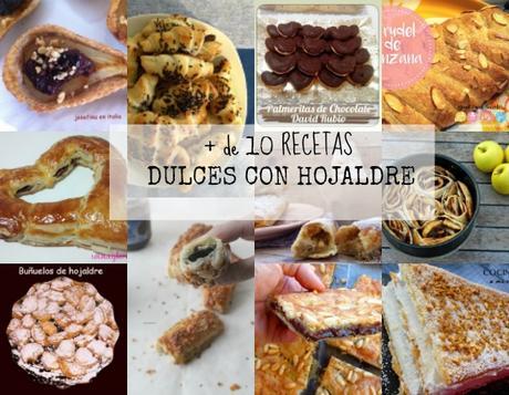 Más de 10  Recetas Dulces con Hojaldre