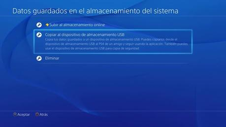 copiar datos guardados en una PS4