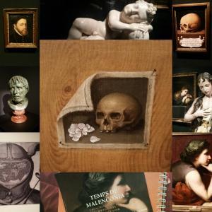 Collage exposición Temps de Malencolia. Tiempos de Melancolía en el Caixaforum de Palma