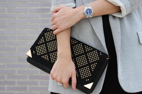 fashion blogger con blazer de mujer oversize