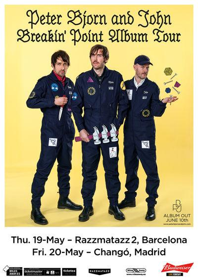 Peter Bjorn and ohn en Madrid y Barcelona