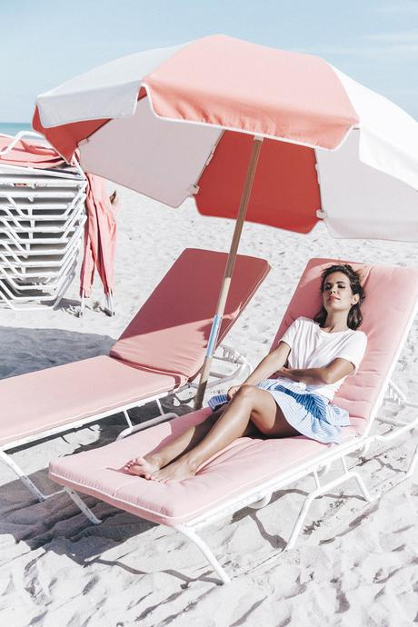 Miami-Striped_Skirt-Knotted_Top-Beach-South_Beach-Candy_Colors-Collage_On_The_Road-Street_Style-OUtfit-1