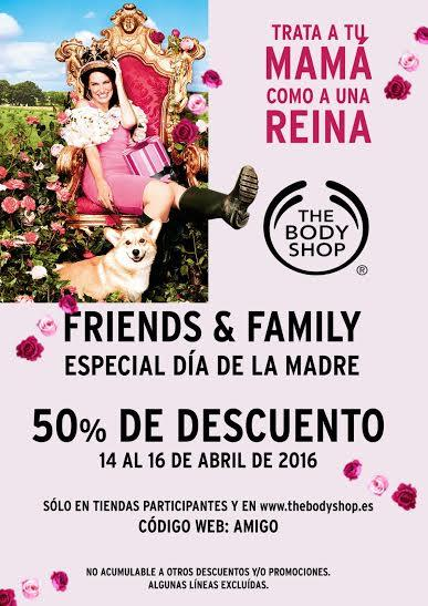 FRIENDS AND FAMILY EN THE BODY SHOP.