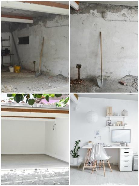 Workspace Makeover   Antes y después: Hermosa oficina en blancos   casahaus.net