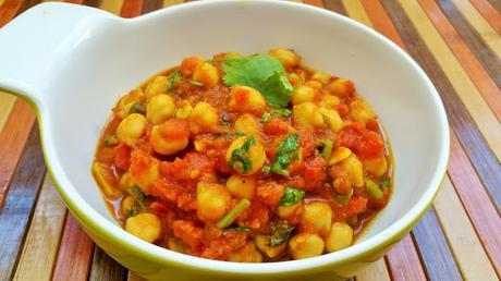Curry indio de garbanzos