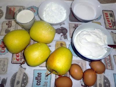 Tarta de manzana y yogur súper fácil